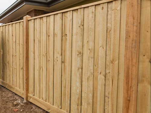 stockade wooden privacy fence